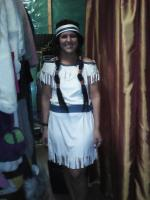 Native American Indian - Ivory dress