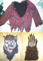 Werewolf - Red shirt with brown fur